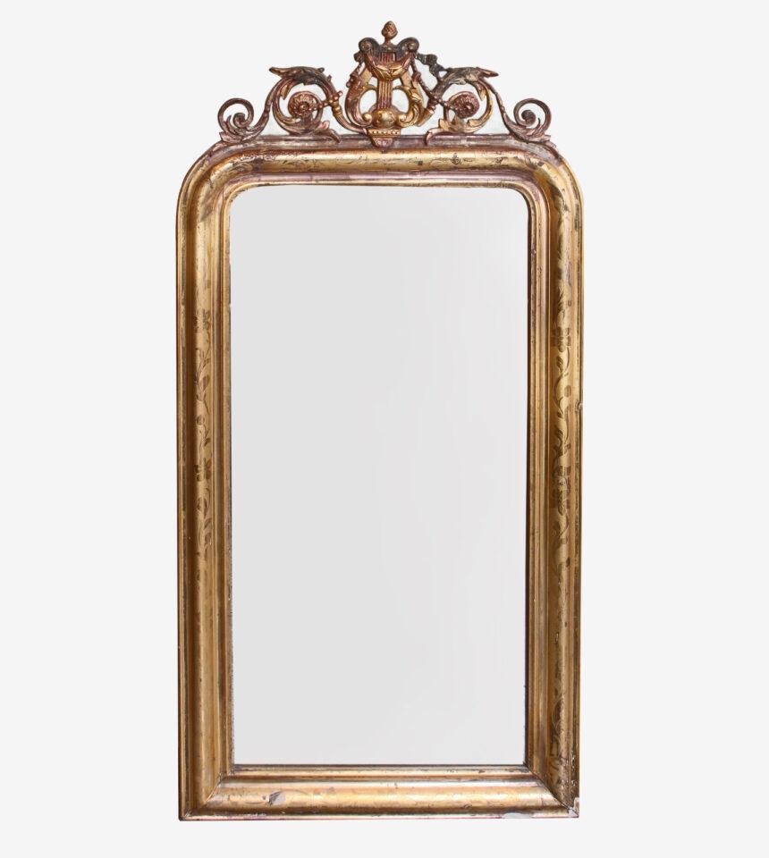 Franse Spiegels Louis Philippe met harp
