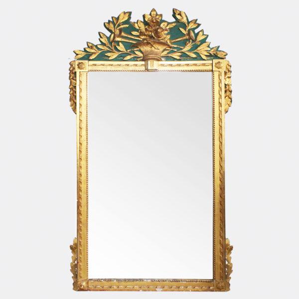 Franse Spiegels Gouden Louis XVI Groen en Goud