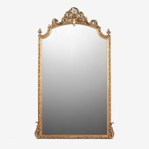 Franse Spiegel Grote Gouden Spiegel met Strik Overzicht