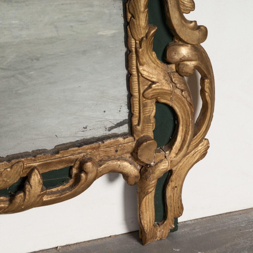Franse Spiegels Italiaanse Barok Gesso Spiegel Detail 1
